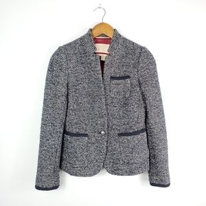 Banana Republic Tweed Wool Blend Blazer
